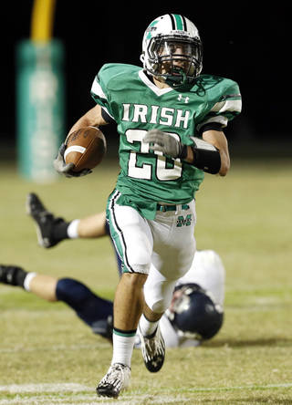 McGuinness' Braden Roy rushed for 530 yards last season and is the Irish's lone returning offensive player. Photo by Steve Sisney, The Oklahoman Archives