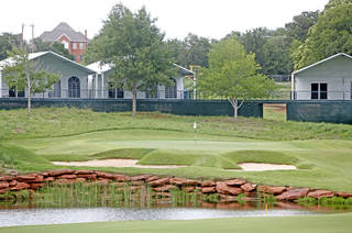 Temporary buildings have been erected on the course at Oak Tree National Country Club in preparation for the 2014 U.S. Senior Open, held in July, on June 12, 2014. Photo by KT King/The Oklahoman