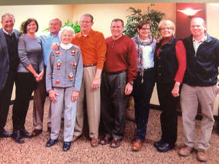 Catherine Altendorf, fourth from left, poses with her family, Dennis, Kathleen, Kent, Andres, Tim, Cecilia, Luke and Carrie. Photo provided.