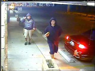 The Oklahoma City Police Burglary Unit is asking for the publicÕs help identifying several men who were involved in a burglary. Communication Solutions at 1201 S. Eastern was burglarized on 1/29/12 at approximately 3:00 a.m. Surveillance cameras captured photos of the suspects and their car (see attached photos). Anyone with information as to the identities of the men shown should call Crime Stoppers at 405/235-7300. Callers to Crime Stoppers can remain anonymous and may be eligible for a cash reward.