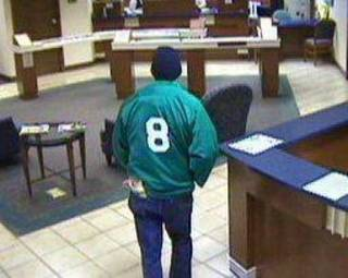 The robber in Monday's bank robbery at RCB Bank, 1350 W Doolin Ave. in Blackwell. Photo provided.