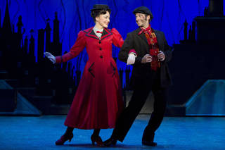 Mary Poppins (Madeline Trumble) and Bert (Con O'Shea-Creal) share a charming moment in the Tony Award-winning musical. Photo by Jeremy Daniel Photo by Jeremy Daniel