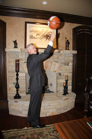 Everett Dobson, a native of Cheyenne in western Oklahoma, is among the minority owners of the Oklahoma City Thunder. He's shown here at his office in Oklahoma City. Photo provided by Carolyn Seelen, National Cowboy & Western Heritage Museum