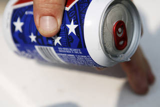 A can of Budweiser beer, July 6, 2013. Photo by KT KING, The Oklahoman