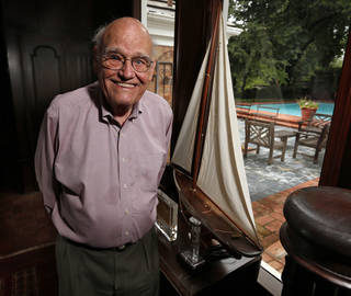 Harold Powell, founder of Harold's Stores, at his home on Thursdayin Norman. Photo by Steve Sisney, The Oklahoman STEVE SISNEY - THE OKLAHOMAN