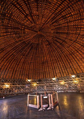 This a view of the loft at the Round Barn in Arcadia, which will celebrate the 20th anniversary of its restoration on Saturday. CHRIS LANDSBERGER - The Oklahoman