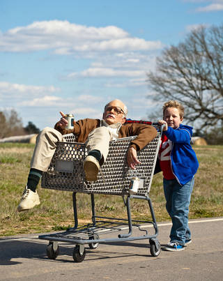 """Johnny Knoxville and Jackson Nicoll star in """"Jackass Presents: Bad Grandpa."""" Sean Cliver"""