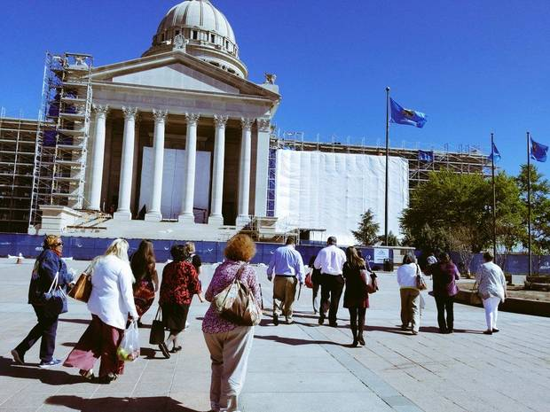 A group of educators from Lawton arrived at the state Capitol on Wednesday to meet with lawmakers. Photo by Ben Felder.