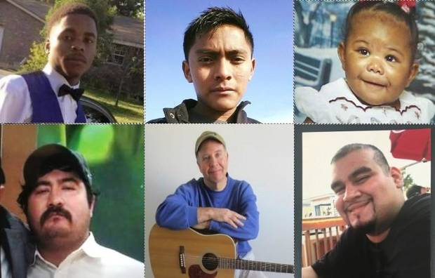 Photos of six of the 71 people who have died so far this year in homicides in Oklahoma City.