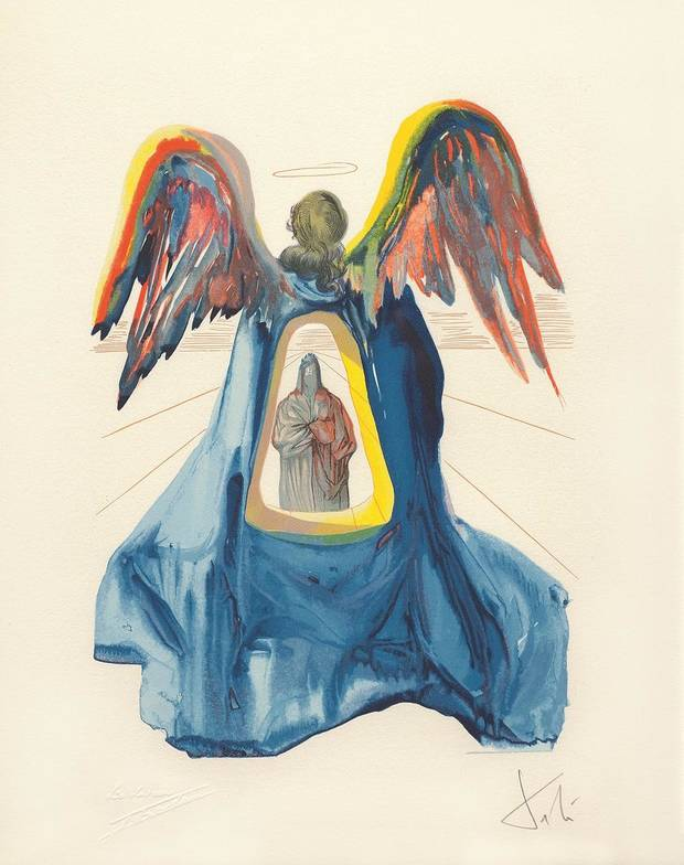 "Salvador Dali's ""Dante Purified - The Divine Comedy, Purgatory"" is featured in the new exhibit ""Salvador Dali's Stairway to Heaven,"" opening Friday at the Mabee-Gerrer Museum of Art in Shawnee. [Image provided by the Park West Museum]"