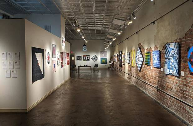 """Convergence,"" an exhibit by the Qu'aint Collaboration is on view at The Vault Art Space and Gathering Place in Pauls Valley. [Image provided]"