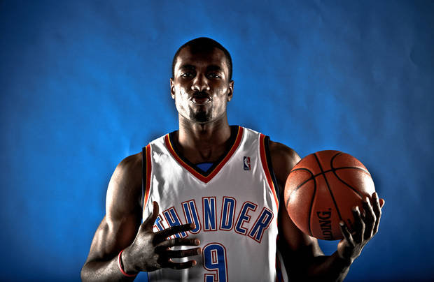 photo - Serge Ibaka, Photo by Chris Landsberger, The Oklahoman.
