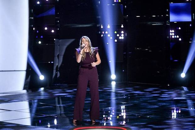 "Oklahoma singer Kailey Abel appears on ""The Voice"" Season 18. [Mitchell Haddad/NBC]"