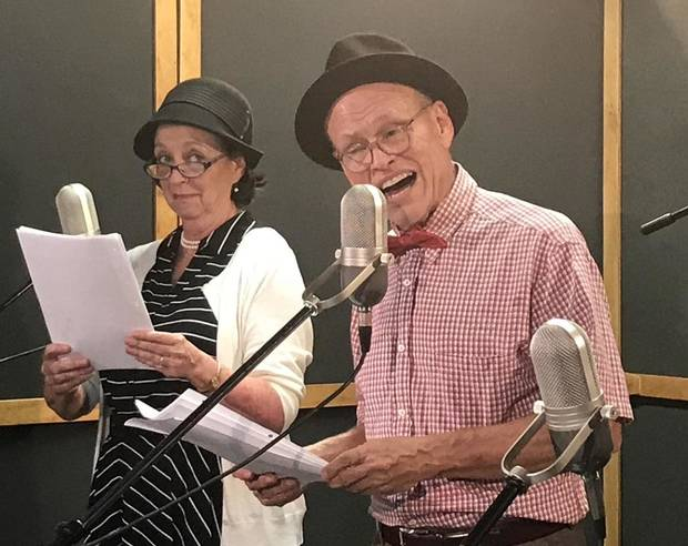 Mike Waugh and Lilli Bassett star in a Carpenter Square Theatre radio show-style live-stream production. [Photo provided]