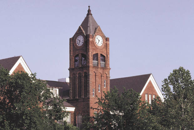 photo - The University of Central Oklahoma clocktower, in Edmond. Oklahoman Photo