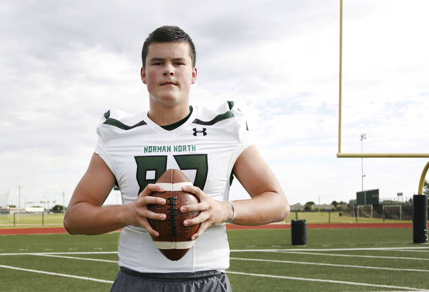 Super 30 athlete, Jake Roberts, a senior tight end at Norman North High School, has committed to the University of North Texas. Photograph taken at Norman North High School in Norman, Oklahoma on July 8, 2019. [Paxson Haws/The Oklahoman]