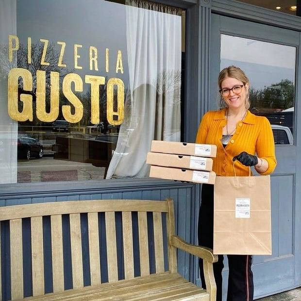 Pizzeria Gusto is offering curbside delivery. [Photo provided]