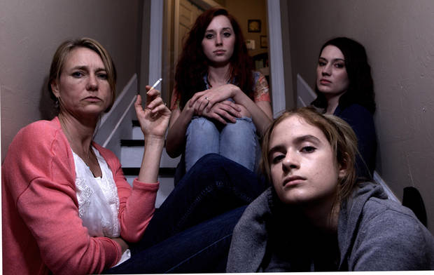 "From left, Mary Buss, Callie Faye Nichols, Lindsay Fritts and Maya Staggs in a scene from ""Mono."" [Photo provided]"