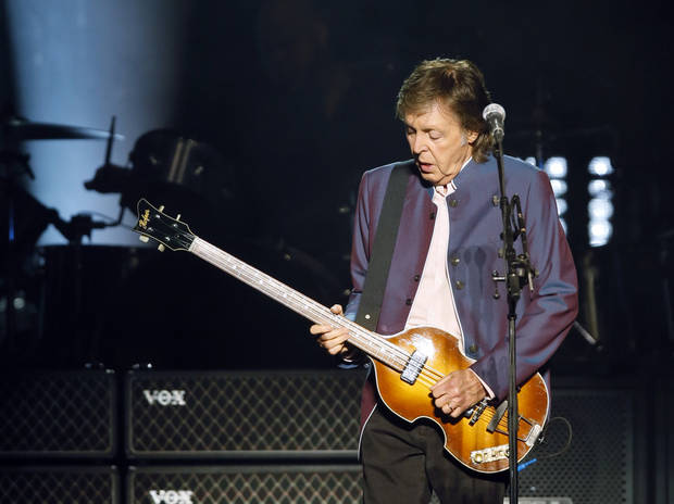 Paul McCartney performs during his One On One tour stop at the Chesapeake Energy Arena in Oklahoma City, Monday, July 17, 2017. [Photo by Nate Billings, The Oklahoman]