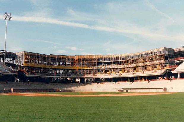 As the park took shape the excitement in the community built. Photo OKC Dodgers.