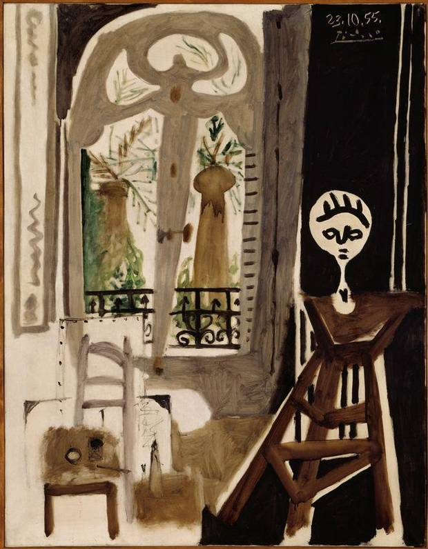 "Pablo Picasso (1881-1973, Spanish) 1955 oil painting ""L'Atelier (The Workshop)"" will be featured in the exhibition ""Matisse in His Time: Masterworks of Modernism from the Centre Pompidou, Paris,"" opening in 2016 at the Oklahoma City Museum of Art. Oklahoma City will be the exclusive North American venue to host the exhibit, which will include 100 works of art, including nearly 50 paintings, sculptures and works on paper by Henri Matisse, as well as masterworks by Picasso, Juan Gris, Georges Braque, André Derain, Fernand Léger and Amadeo Modigliani. Image provided by Centre Pompidou, Paris"