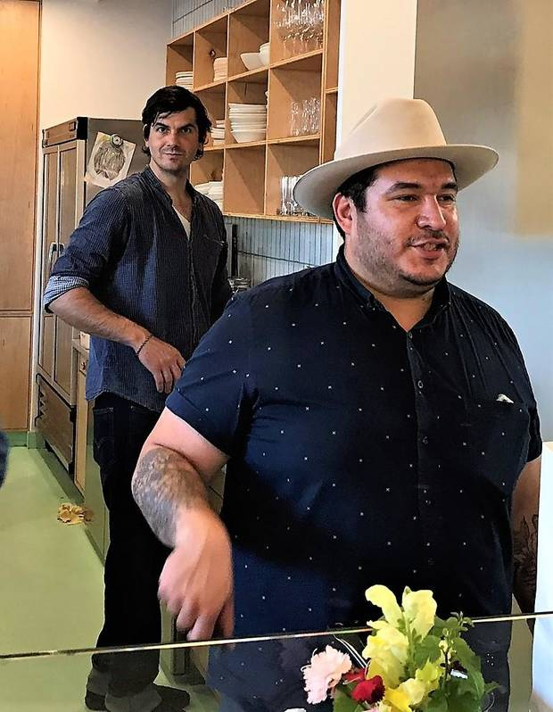 Josh Strother, left, recently joined the team at The Kitchen at Commonplace Books along with co-owner Chris Castro. [Dave Cathey/The Oklahoman]
