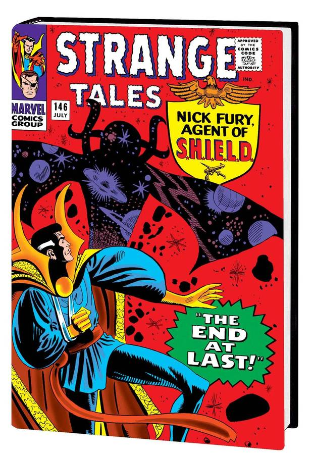 The Doctor Strange omnibus with a cover by Steve Ditko. [Marvel Comics]