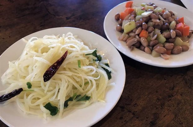 Potato noodles and soy-boiled peanuts from Northern Noodle House in Oklahoma City. [Dave Cathey/The Oklahoman]