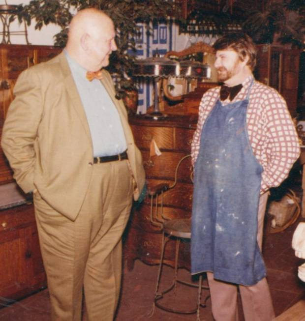 Chef John Bennett, right, with James Beard.