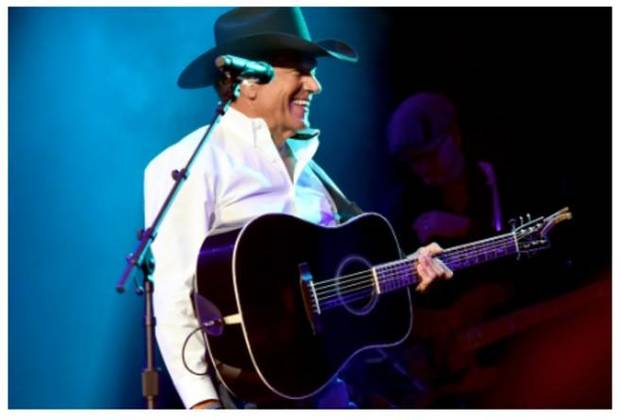 George Strait performs at the Country Rising benefit concert Sunday at Nashville's Bridgestone Arena. Photos provided courtesy of Getty