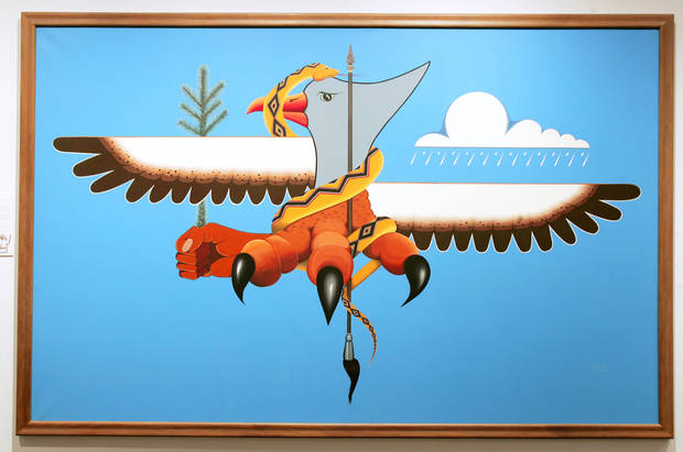 "photo - ""Child of the Eagle"" by Jonny Hawk is on display at the National Cowboy & Western Heritage Museum. PHOTO BY JACONNA AGUIRRE, THE OKLAHOMAN"