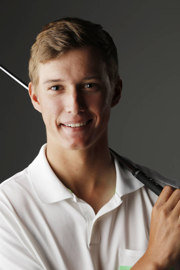 photo - Max McGreevy, Edmond Santa Fe, Golfer of the Year at OPUBCO Thursday, May 30, 2013. Photo by Doug Hoke, The Oklahoman