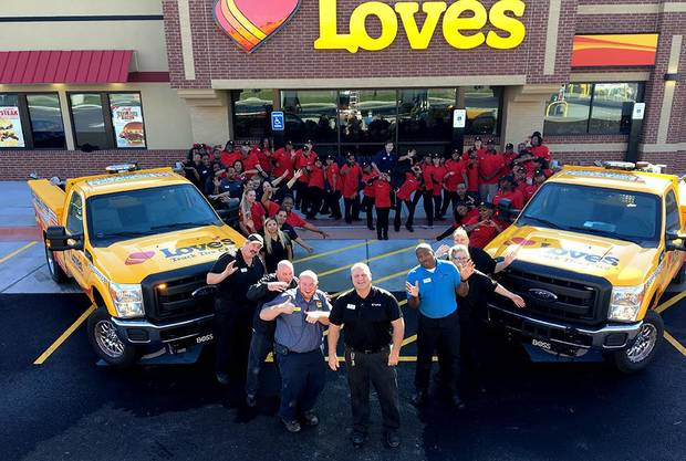 The team at the South Holland Love's store. Photo provided.