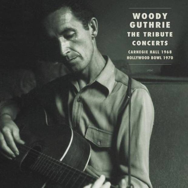 "Bear Family's comprehensive three-CD box set ""Woody Guthrie: The Tribute Concerts,"" due out on Sept. 22, pays homage to Guthrie who died Oct. 3, 1967, at the age of 55 from complications of Huntington's disease. Cover image provided"