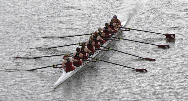 photo - The American Collegiate Rowing Association Championships begin today on the Oklahoma River. OKLAHOMAN FILE PHOTO