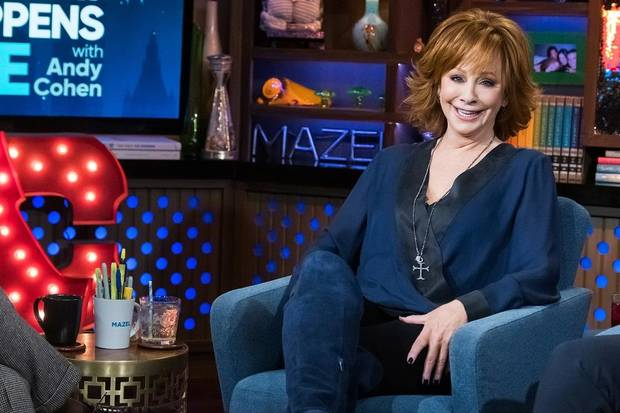 "Reba McEntire appears in a 2019 episode of ""Watch What Happens Live with Andy Cohen."" [Photo by Charles Sykes/Bravo]"