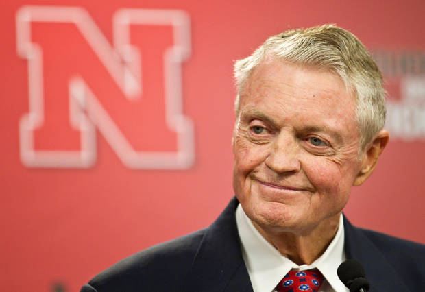 photo - Nebraska athletic director Tom Osborne jokes about his health as he announces his retiring as of Jan. 1, during a news conference held in Lincoln, Neb., Wednesday, Sept. 26, 2012.  (AP Photo/The Omaha World-Herald/Rebecca S. Gratz)  MAGS GS OUT; ALL NEBRASKA LOCAL BROADCAST TV OUT ORG XMIT: NEOMA101