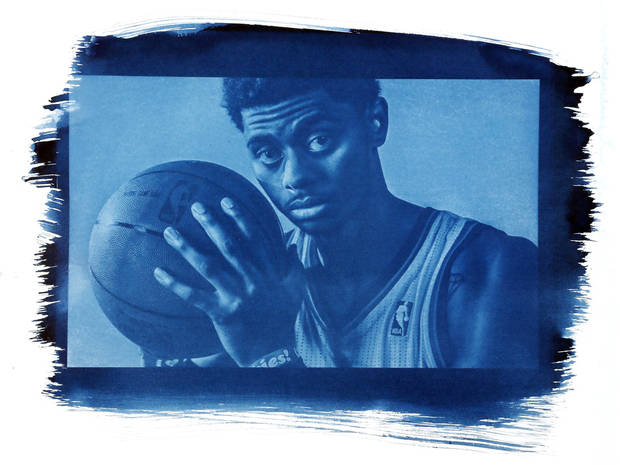 photo - Guard Jeremy Lamb is only 21 but will see considerable minutes this year. Photo by Chris Landsberger/Cyanotype print by Nate Billings, The Oklahoman