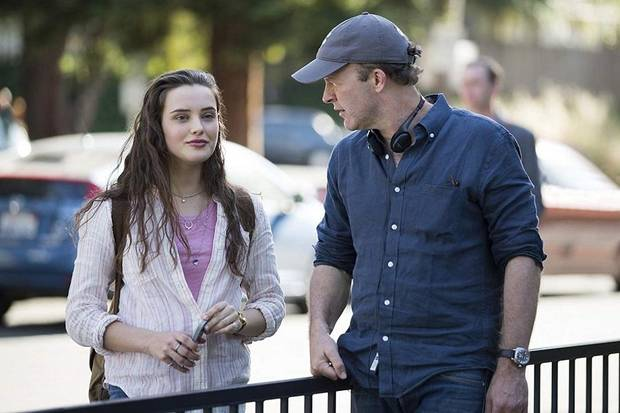 "Director Tom McCarthy and Katherine Langford are shown behind the scenes of the Netflix series ""13 Reasons Why."" McCarthy's next project is the film ""Stillwater,"" starring Matt Damon, which is readying to film in Oklahoma. [Netflix]"