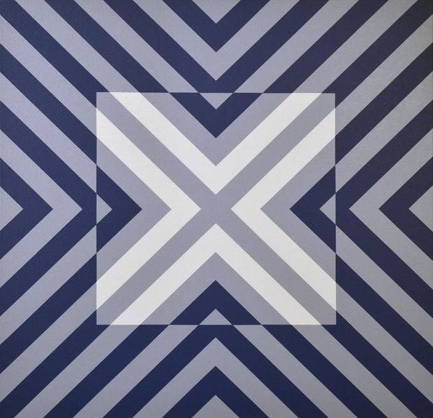 """Blue Square,"" by painter Jason Wilson, is featured in ""Convergence,"" an exhibit by the Qu'aint Collaboration on view at The Vault Art Space and Gathering Place in Pauls Valley. [Image provided]"