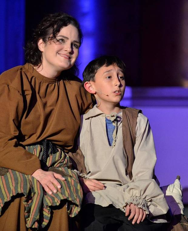 "Austin Rindler and Catherine McDaniel will reprise their roles as Amahl and his mother in Painted Sky Opera's ""Amahl and the Night Visitors."" [Wendy Mutz photo]"