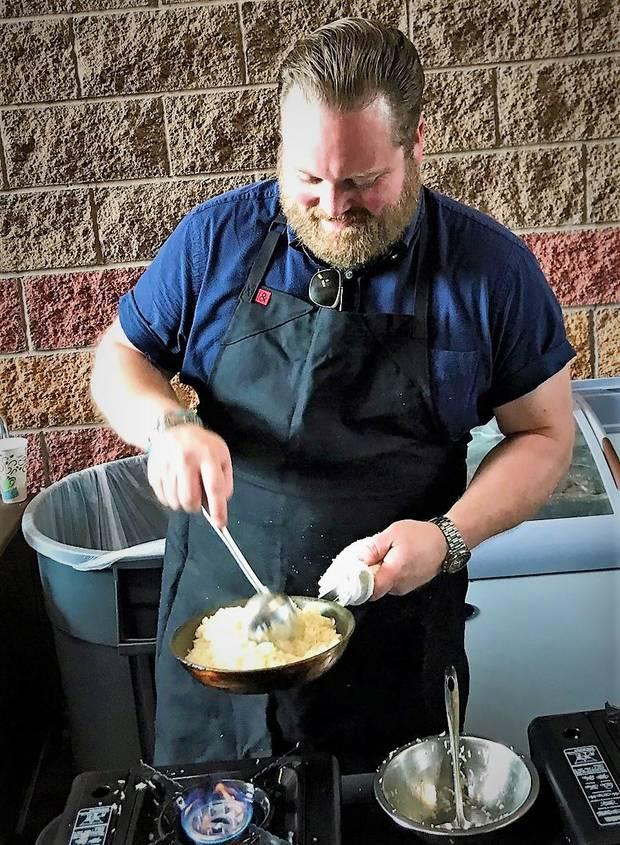 Chef Russ Johnson of Ludivine at the Asian Food Fare. [Dave Cathey/The Oklahoman]