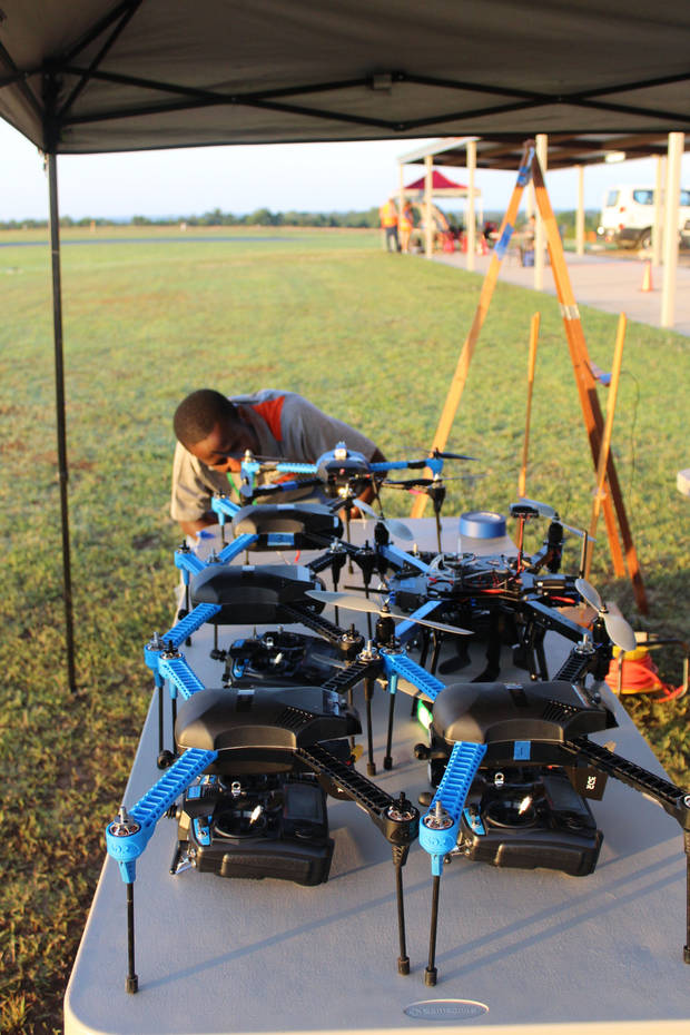 Research being performed at OSU hopes to improve the metrics for tornado prediction through the use of drones. Photo courtesy of Dr. Jamey Jacob.