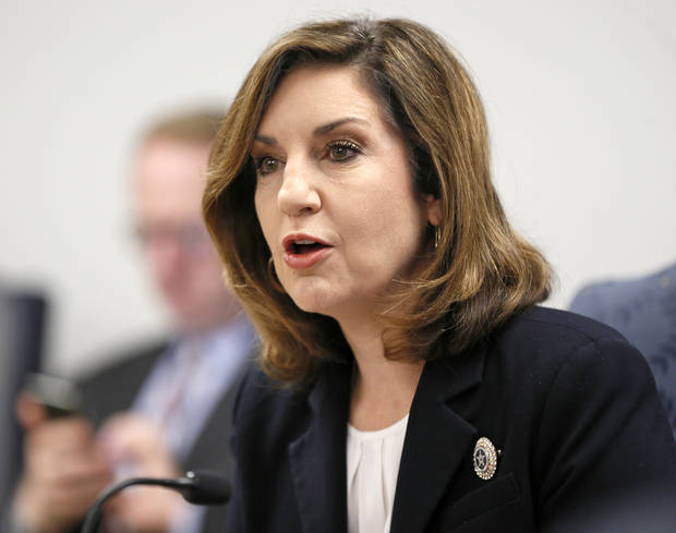 Joy Hofmeister, state schools superintendent, speaks during a special meeting of the State Board of Education about budget cuts to the Public Schools Activities Fund, at the Oliver Hodge building at the State Capitol Park in Oklahoma City, Friday, June 10, 2016. Photo by Nate Billings, The Oklahoman