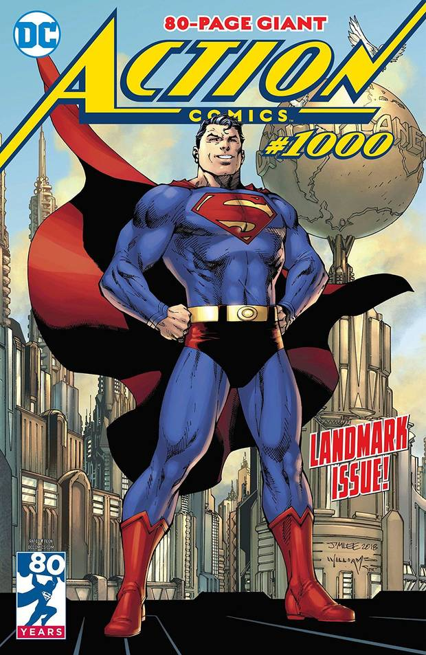 Action Comics #1000 main cover by Jim Lee.