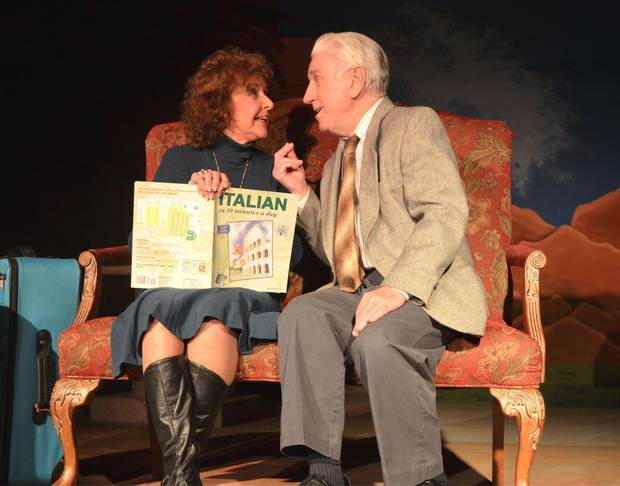 "photo - Jane Hall as Carol Reynolds and Paul Smith as Ralph Bellini in Carpenter Square Theatre's production of ""The Last Romance."" Photo provided"