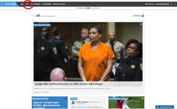 The ALL page for NewsOK Pro users is a popular place to go throughout the day.