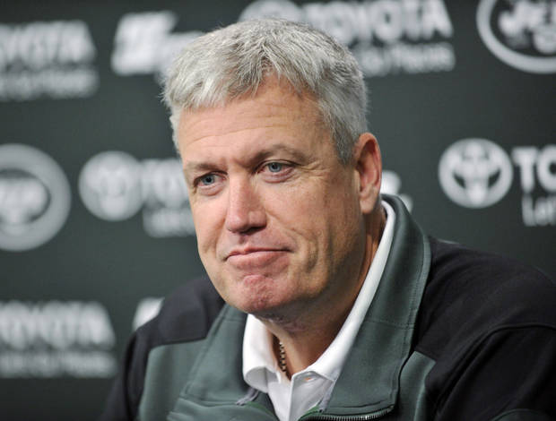 photo - New York Jets coach Rex Ryan speaks to the media during an NFL football news conference Tuesday, Dec. 31, 2013, in Florham Park, N.J. (AP Photo/Bill Kostroun)