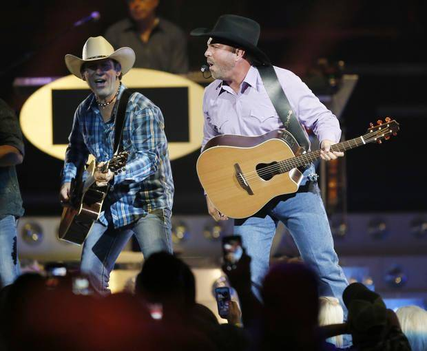 Garth Brooks performs during his 7 p.m. show at the Chesapeake Energy Arena in Oklahoma City, Friday, July 14, 2017. Photo by Nate Billings, The Oklahoman