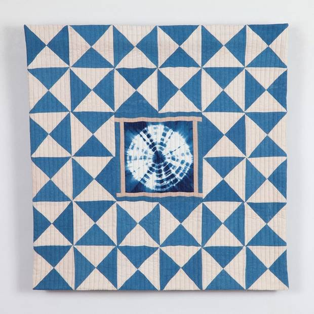 "Quilter Elizabeth Richards' ""Time"" is featured in ""Convergence,"" an exhibit by the Qu'aint Collaboration on view at The Vault Art Space and Gathering Place in Pauls Valley. [Image provided]"